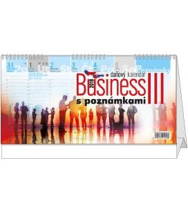 Stolní kalendář Business III. s poznámkami 2019
