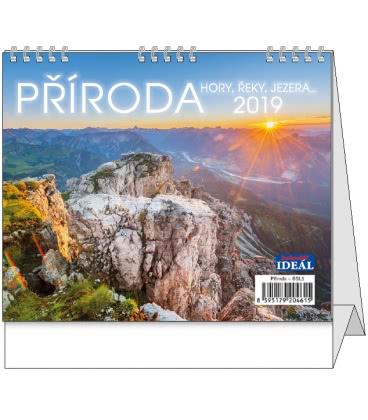 Stolní kalendář IDEÁL - Příroda, hory, řeky, jezera… 2019