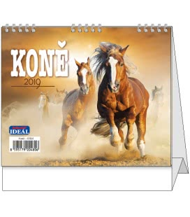 Stolní kalendář IDEÁL - Koně 2019