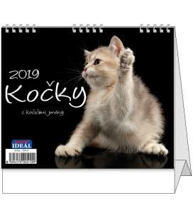 Stolní kalendář IDEÁL - Kočky 2019