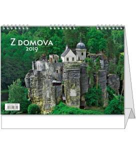 Stolní kalendář Z domova 2019
