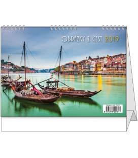 Stolní kalendář Obrázky z cest 2019