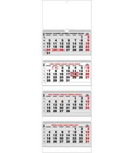 Nástěnný kalendář Čtyřměsíční - skládaný (s mezinárodními svátky) 2019