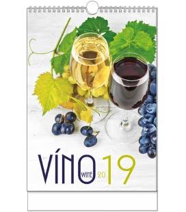 Nástěnný kalendář Víno - A3 2019