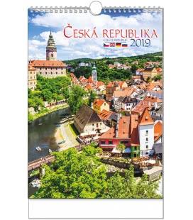 Nástěnný kalendář Česká republika - A3 2019