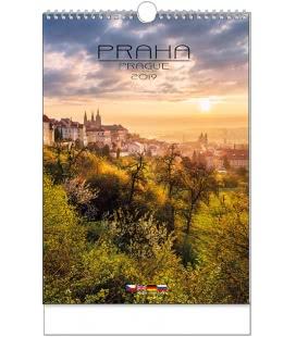 Nástěnný kalendář Praha - A3 2019