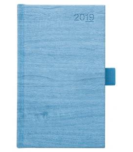Diář týdenní kapesní Wood modrý 2019