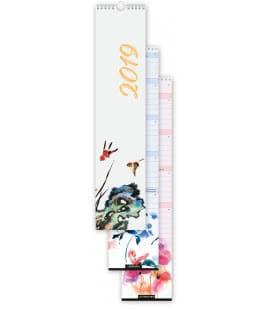 Nástěnný kalendář Aquarel vázankový 2019