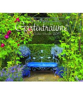 Nástěnný kalendář Zahradní sny / Gartenträume - Ursel Borstell 2019