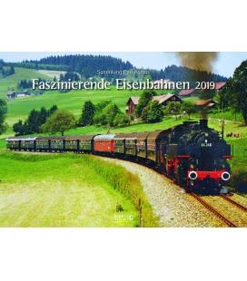 Nástěnný kalendář Fascinujíci železnice / Faszinierende Eisenbahnen 2019