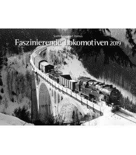 Nástěnný kalendář Fascinující lokomotivy / Faszinierende Lokomotiven 2019