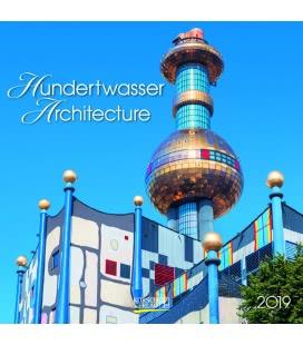 Nástěnný kalendář Hundertwasser Architecture (BK) 2019
