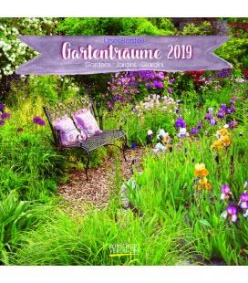 Nástěnný kalendář Zahradní sny / Gartenträume (BK) 2019