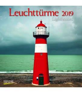 Nástěnný kalendář Majáky / Leuchttürme (BK) 2019