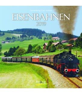 Nástěnný kalendář Železnice / Eisenbahnen (BK) 2019