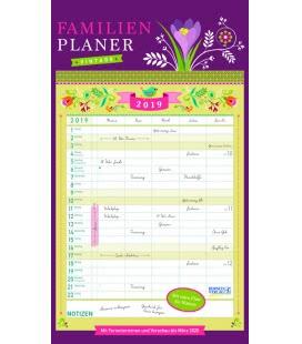 Nástěnný kalendář Rodinný plánovač Vintage / Familienplaner Vintage 2019