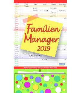 Nástěnný kalendář Rodinný plánovač / Familien Manager 27 x 47 2019