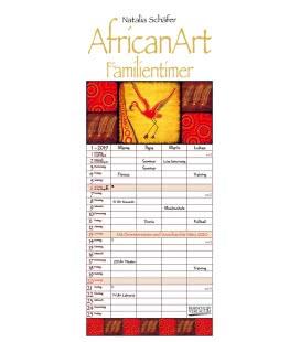 Nástěnný kalendář Rodinný plánovač AfricanArt / AfricanArt Familientimer 2019