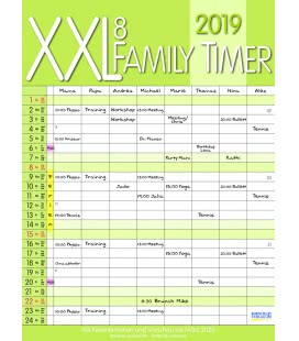 Nástěnný kalendář XXL Rodinný plánovač / XXL Family Timer 8 2019