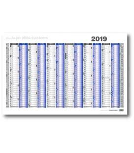 Nástěnný kalendář mapa A1 roční list formátu 990x678 mm 2019