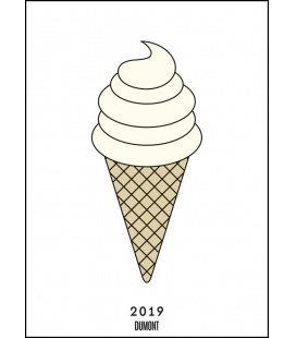 Nástěnný kalendář Plakáty YEAH! : Zmrzlina / Posterkalender redfries: Eis 2019