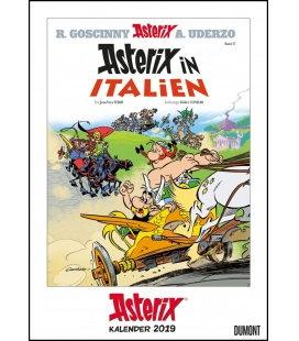 Nástěnný kalendář Asterix - obálky komiksů / Asterix Comiccover-Kalender 2019