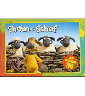 Nástěnný kalendář Ovečka Shaun / Shaun das Schaf 2019