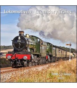 Nástěnný kalendář Lokomotivy / Lokomotiven T&C 2019