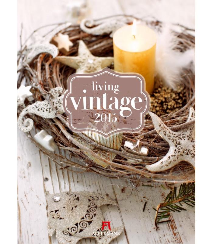 Calendar Vintage 2015 : Wall calendar living vintage