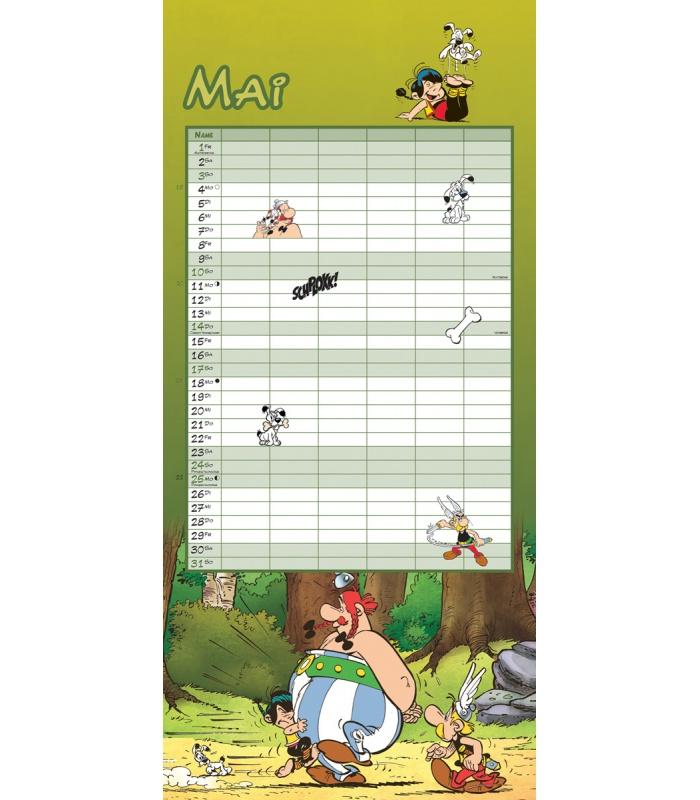Family Calendar 2015 : Wall calendar asterix and obelix family