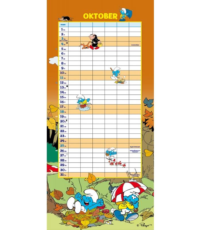 Family Calendar 2015 : Wall calendar the smurfs family