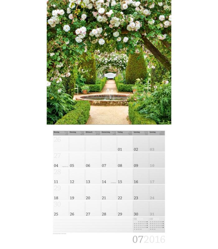Wall calendar magic garden 30 x 30 cm 2016 for Gardening wall planner