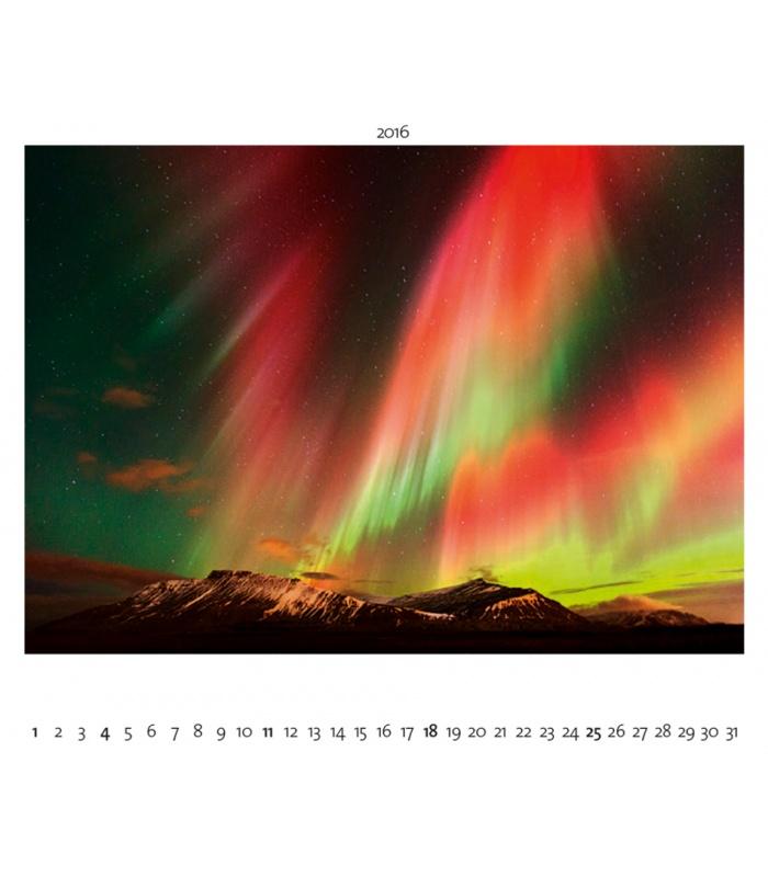 Wandkalender POLARLICHT I HIMMLISCHES LEUCHTEN I Aurora Borealis 2016