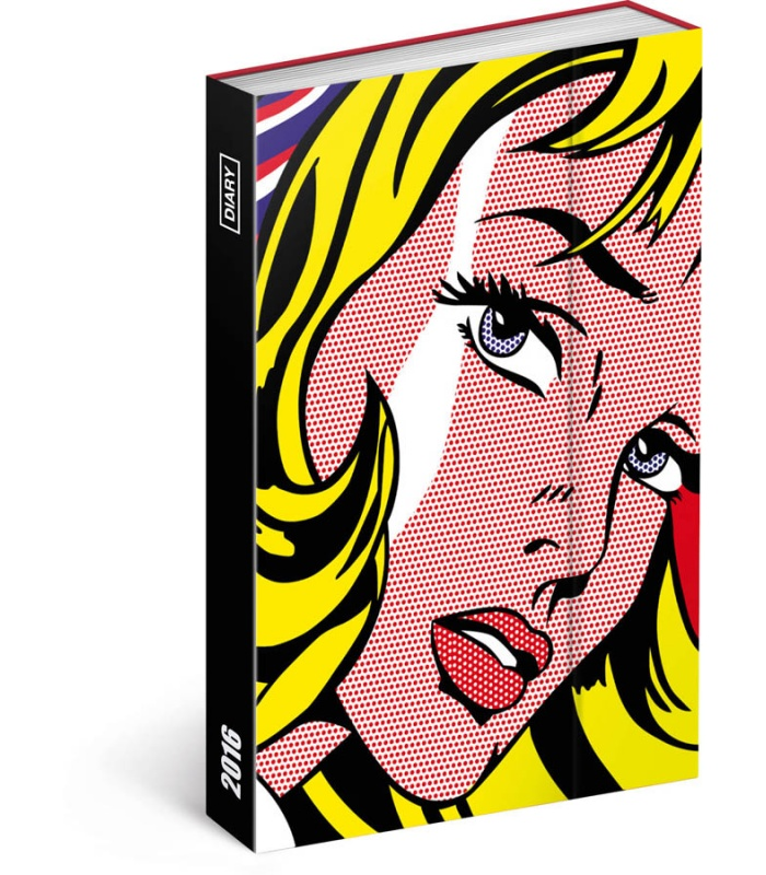 diary roy lichtenstein magnetic 2016. Black Bedroom Furniture Sets. Home Design Ideas