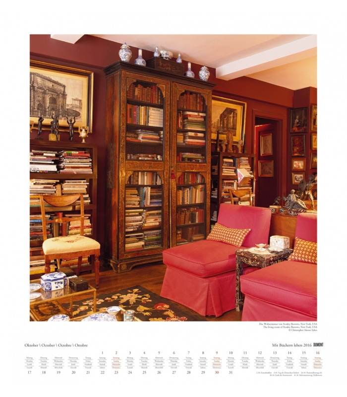 wall calendar mit b chern leben 2016. Black Bedroom Furniture Sets. Home Design Ideas