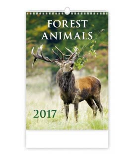 Wall calendar Forest Animals 2017