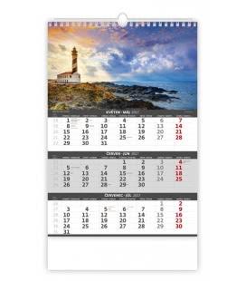 Wall calendar Coast -3 monthly / Pobřeží - 3měsíční 2017