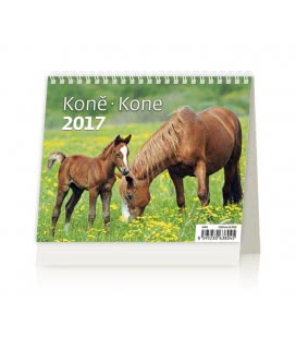 Table calendar MiniMax Koně/Kone 2017