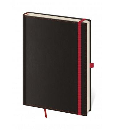 Notes - Zápisník Black Red - tečkovaný S 2018