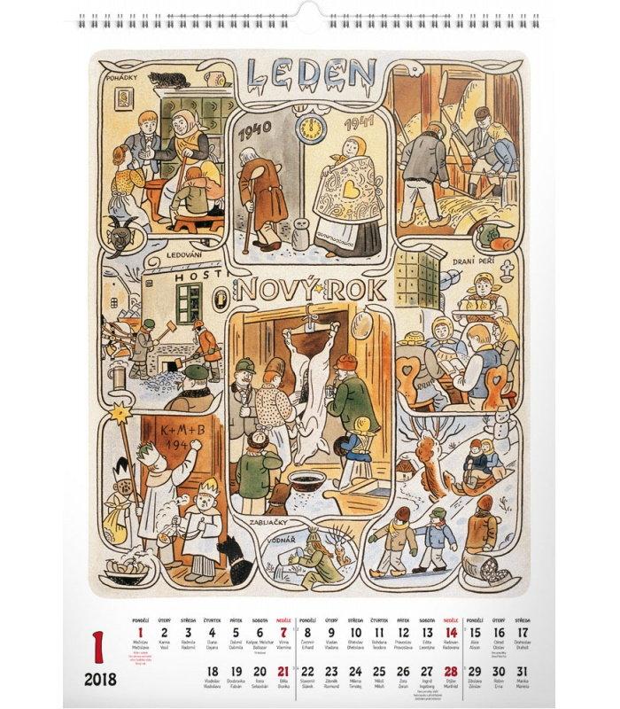 Nastenny Kalendar Josef Lada Mesice 2018