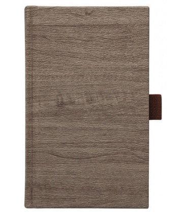 Notes kapesní Wood hnědý čtverečkovaný 2018, objednávka od 100 ks