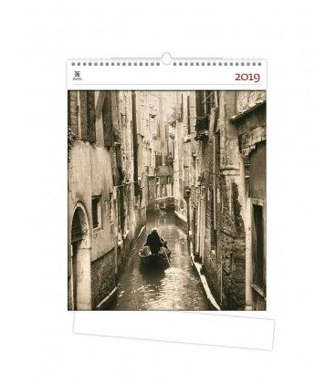 Nástěnný kalendář Venezia 2019