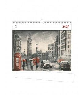 Nástěnný kalendář London 2019