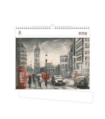 Wall calendar London 2019