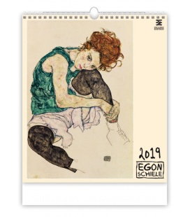 Nástěnný kalendář Egon Schiele 2019