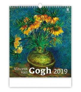 Nástěnný kalendář Vincent van Gogh 2019