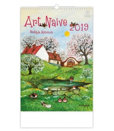 Nástěnný kalendář Art Naive 2019