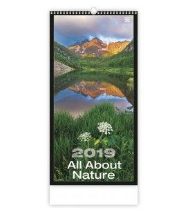 Nástěnný kalendář All About Nature 2019