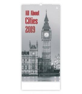 Wall calendar All About Cities 2019