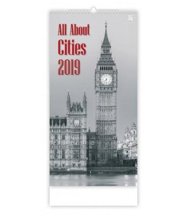 Nástěnný kalendář All About Cities 2019